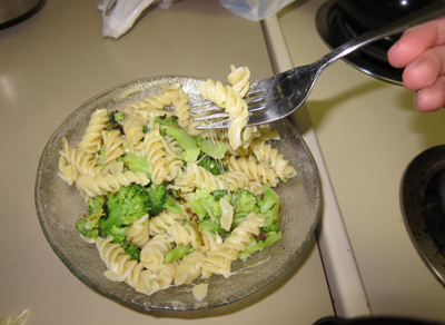 pasta, ready to serve