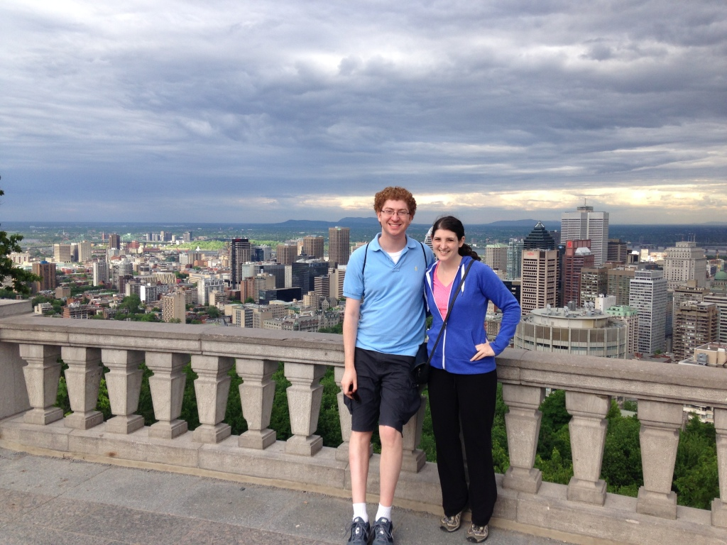 On top of Mount Royal, overlooking Montreal