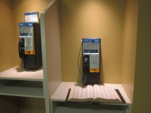 This pay phone even came with a PHONE BOOK! I almost didn't know what it was.
