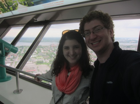 On top of the Olympic Tower