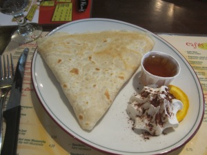 Maple crepe (yum)