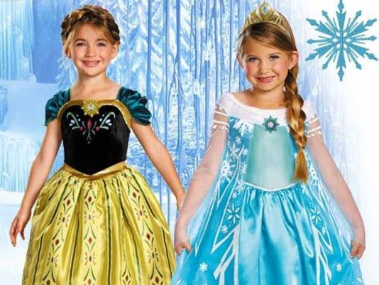Left: Princess Anna; Right: Queen Elsa