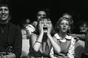This totally would have been me at a Beatles concert had I been alive in the 1960s.