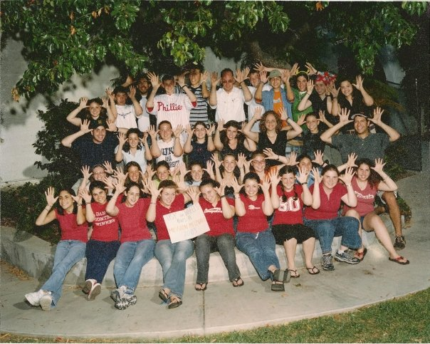 My photos from my USY on Wheels trip in summer 2003 have not yet been digitized, but I did find this picture of our group from that summer -- perhaps this photo was taken in San Francisco!