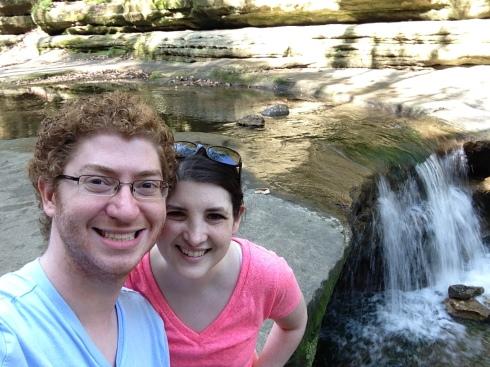 Enjoying the waterfalls in Matthiessen State Park