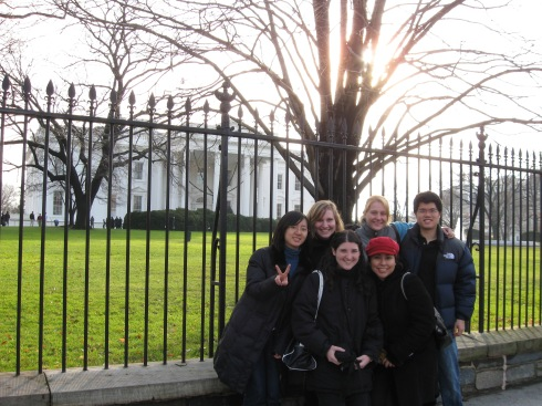 In front of the White House in Washington, D.C. with my friends from my Alternative Student Break trip in 2008