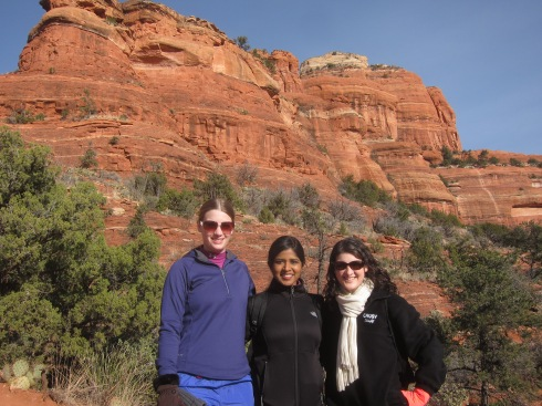 Hiking in Sedona, Arizona with Priya and Virginia
