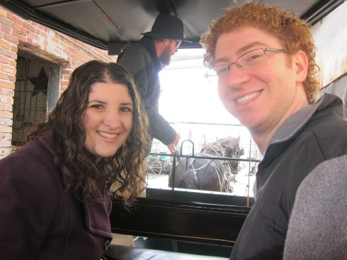 On a horse-drawn carriage tour of Charleston