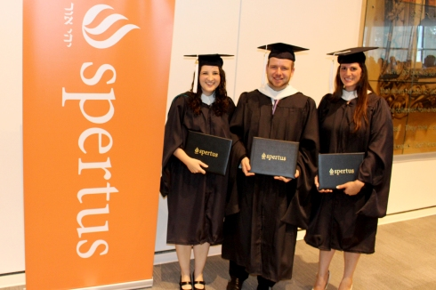 With my fellow MAJPS classmates Shalom Klein and Rachel Kesner