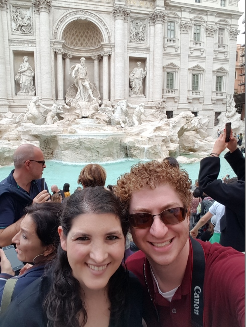 Selfie in front of the Trevi Fountain
